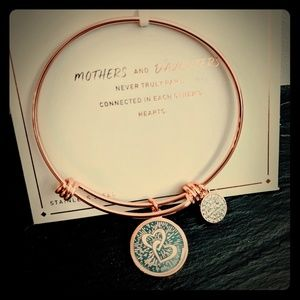 Mother&Daughter rose gold charm bracelet